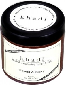 khadi almond honey gel scrub