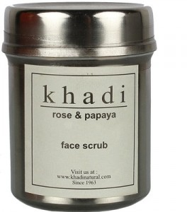 Khadi Rose and Papaya Face Scrub