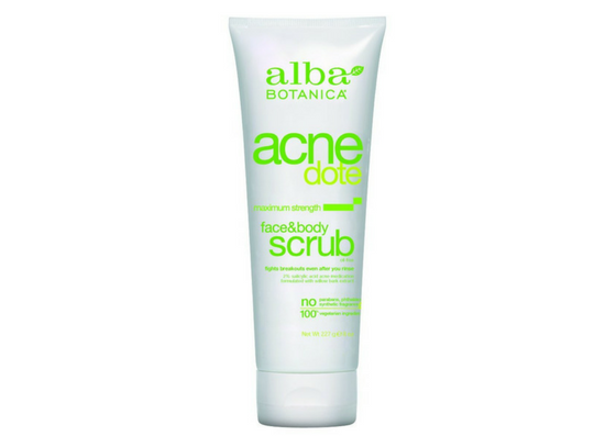 Alba Botanica AcneDote Face and Body Scrub