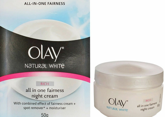 olay-natural white all in one fairness night cream