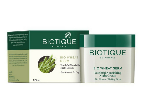 Biotique Bio Wheat Germ Youtheful Nourishing Night cream-lifestylica