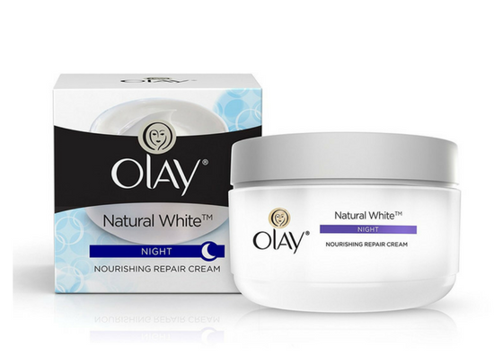Olay natural white night cream-lifestylica