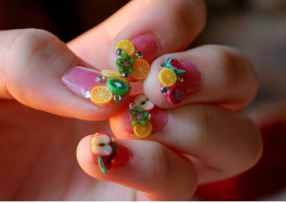 fruity nail art design