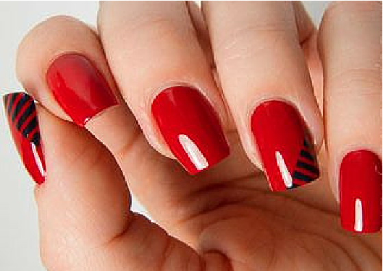 glamorous red nail art designs