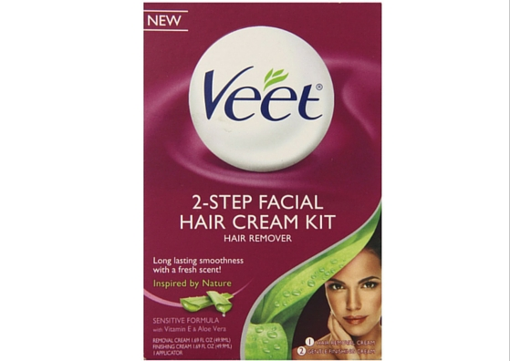 Veet Facial Hair Remover Cream Kit-lifestylica