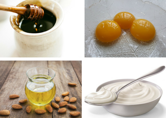 egg yolk-honey-almond oil-yogurt-lifestylica