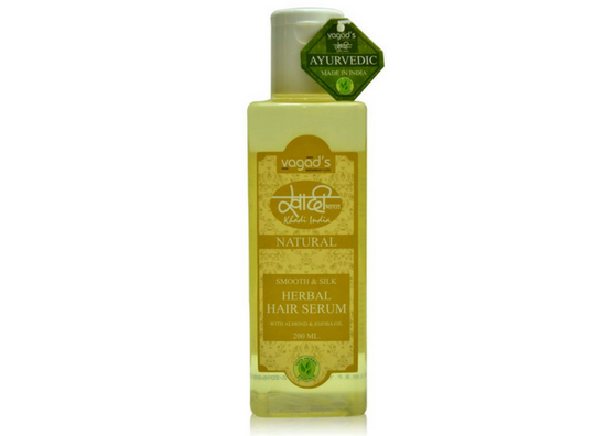 Khadi Smooth and Silk Herbal Hair Serum-lifestylica