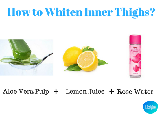 How to Whiten Inner Thighs-aloe vera&lemon-lifestylica