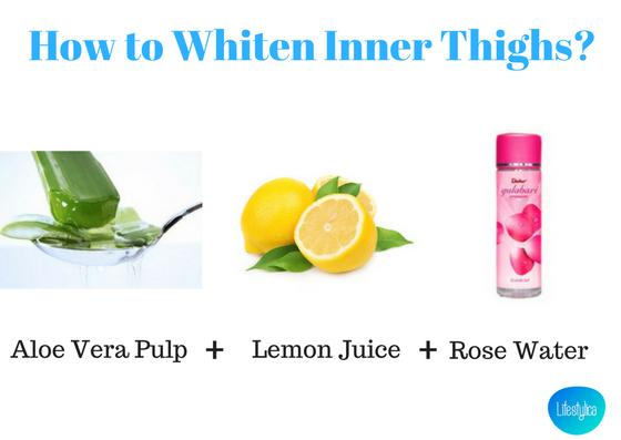 How to Whiten Inner Thighs-aloe vera&lemon-lifestylica