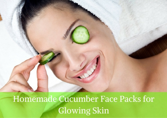 homemade cucumber face pack for glowing skin