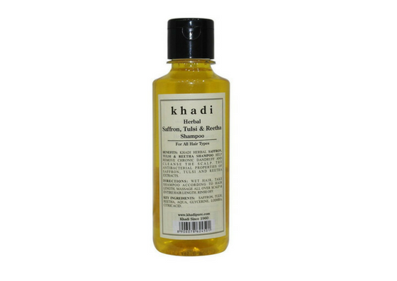 Khadi Herbal Saffron, Tulsi, And Reetha Shampoo-lifestylica