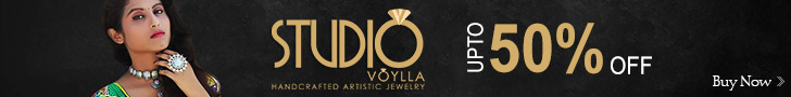 Voylla 50% off on jewellery