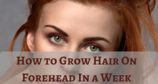 how to grow hair on forehead - lifestylica