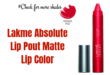 lakme absolute lip pout-lifestylica